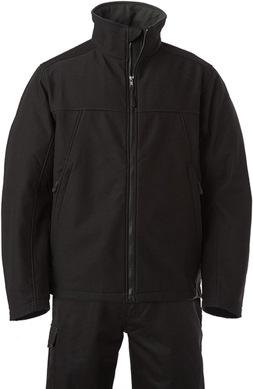 Russell Men's Soft Shell Workwear Jacket Black
