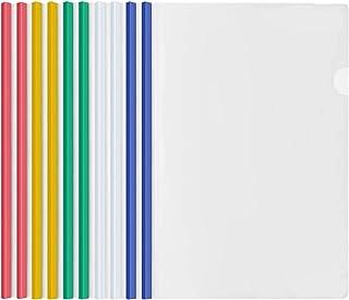 10 Feuilles Transparent A4 Dossier Coulissante avec Reliure Barre Coulissante, Plastique Chemise de Couvertures de Rapport...