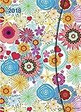 Flower Fantasy 2018 - Magneto Diary large, Taschenkalender, Wochenkalender, Buchkalender - 16 x 22 cm: Taschenkalender, Wochenkalender, Buchkalender A5