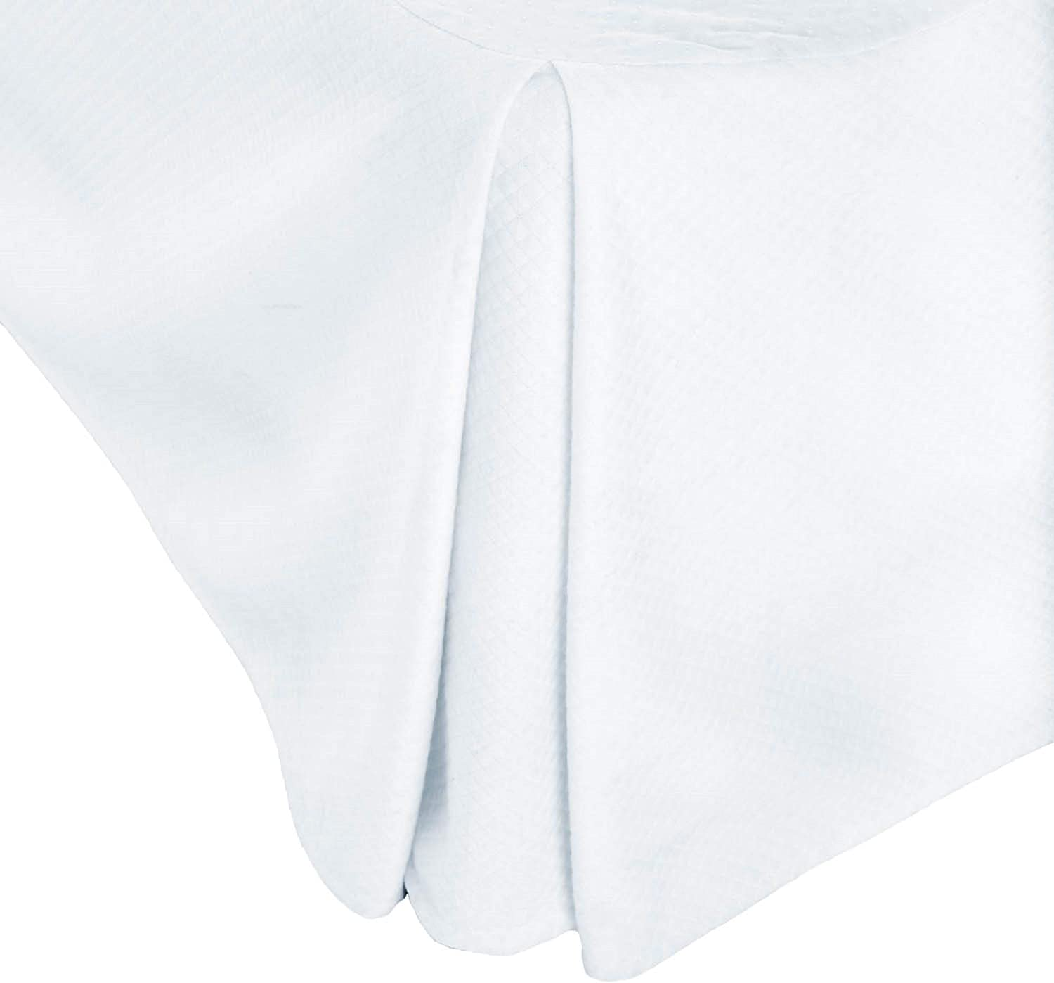 WOVEN Matelasse Solid White 14-Inch Bed Skirt Opening large release New arrival sale Queen Size -