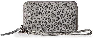 حقيبة للحمل على المعصم من الجلد للنساء من ايشي - بلون الزنك (رمادي)