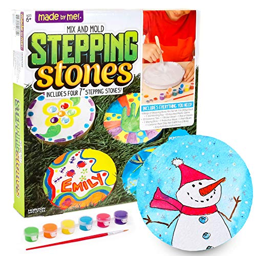 Made By Me Mix & Mold Your Own Stepping Stones by Horizon Group USA, Make 4 DIY Personalized...