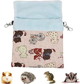 Litewood Sugar Gliders Sleeping Pouch Bag Small Pet Cotton Hanging Warm Comfortable Nest Bed for Small Animals Squirrels Marmosets Rats Hamster