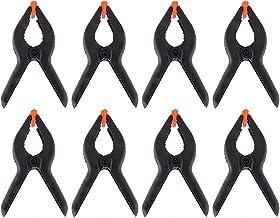 8 STKS veerklem, zwarte plastic veerklem, supersterkte, grip, gestructureerd handvat, gebruiksvriendelijke clip DIY-tool (...