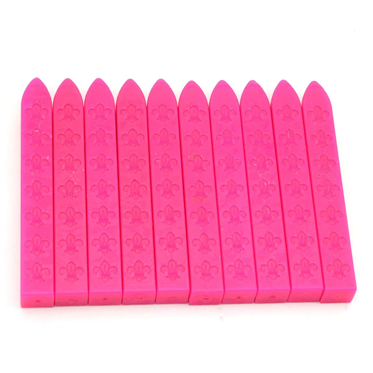 Wax Seal Sticks,10Pcs Sealing Wax Sticks Without Wicks Sealing Wax for Postage Letter Retro Vintage Wax Seal Stamp (Rose)