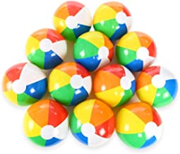 DECORA 12 Inch Inflatable Rainbow Beach Balls for Kids Swimming Pool Water Fun Toys Pack of 6