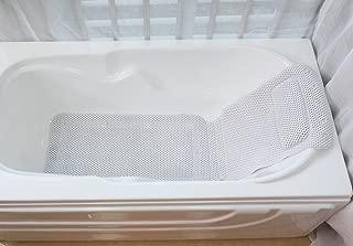 Full Body Bath Pillow Mat, HALOViE Bathtub Mat with Single Pillow Hollow PVC Foam Spa Bathtub Pad Non-Slip 49.21x14.17inch