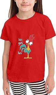 Paoseven HEI - Camiseta de manga corta para niña, unisex, color negro