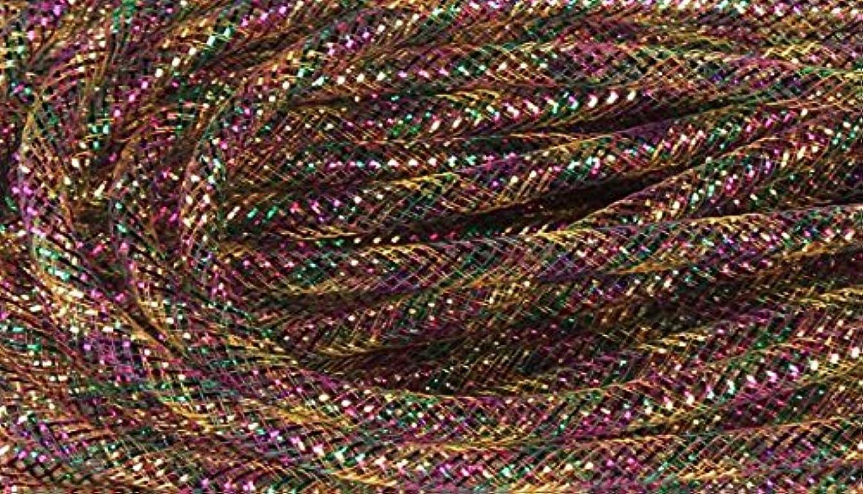 Deco Mesh Flex Tubing with Metallic Foil (Mardi Gras Purple Gold Green) 30 Yards : RE3010G5