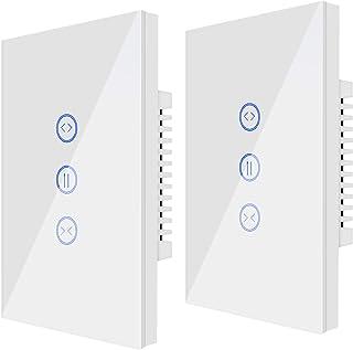 UseeLink WiFi-rolluikschakelaar, US, smart jaloezieën timer, compatibel met Alexa/Google Home, APP afstandsbediening, time...
