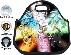 BEKAI | E-evee Evolution Laser Insulated Neoprene Tinfoil Lunch Tote Bag Waterproof Lunch Box for Kids/Boys/Girls/Men/Women