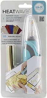 We R Memory Keepers American Crafts Heatwave Pen Starter Kit y 20Hojas de Aluminio, 4x 15,2cm, acrílico, Multicolor, Talla única