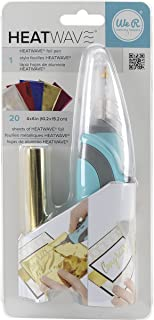 Heatwave Pen Starter Kit by We R Memory Keepers | Includes Heatwave Pen and 20 4 x 6-inch foil sheets in various colors