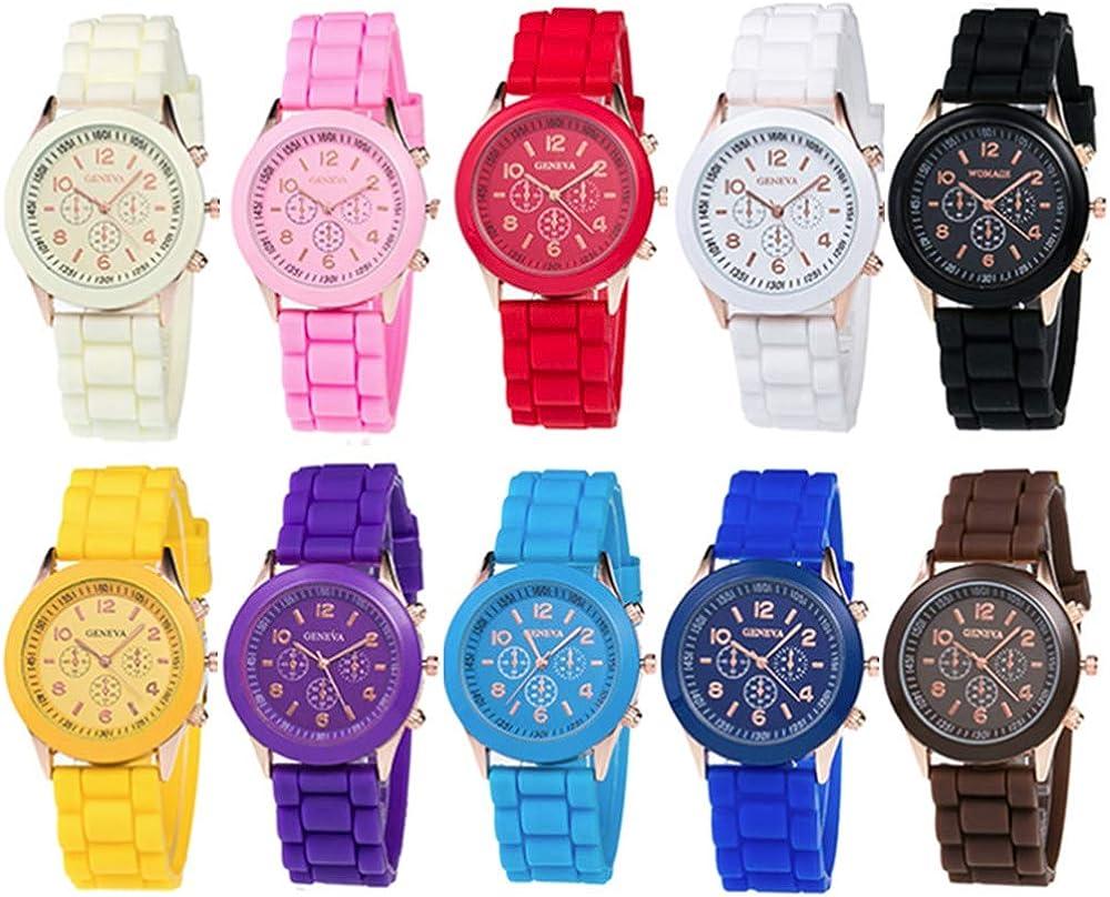Weicam Wholesale 10 Pack Men Women Watch Silicone Ultra-Cheap Deals Girl Set Band Max 76% OFF