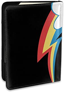 Rainbow Colors Stripes Fashion Leather Passport Holder Cover Case Travel Wallet 6.5 In