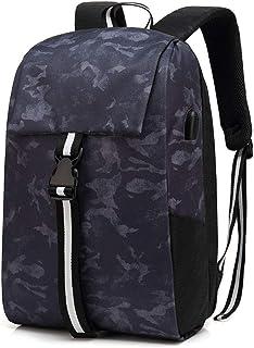 Men Laptop Backpack 15.6 Inch Laptop Backpack with USB Charging Port Travel Backpack Casual Rucksack College Daypack Travel Gear Bag,C