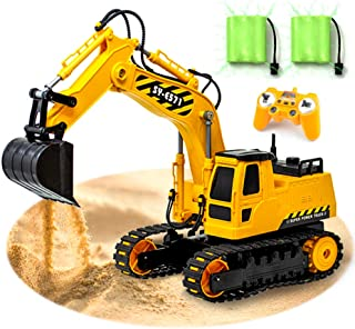 Gili RC Excavator, Remote Control Car Toy for 4, 5, 6, 7, 8 Year Old Boys, Construction Tractor Vehicle, Engineering Digger Truck, Best Top Christmas Birthday Gifts for Kids Age 3yr-10yr