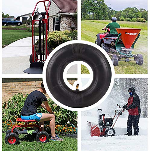 Mecotime 2 Packs 3.50/4.00-6 Replacement Inner Tire Tube with Metal Valve Stem Fit 4.10/3.50-6 13x4.00-6 13x5.00-6 145/70-6 for Hand Trucks, Dollies, Wheelbarrows, Lawn Mowers, Trailers and Generators