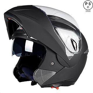 システムヘルメット フリップアップヘルメット バイクヘルメット 多色 人気商品 PSC規格品 男女通用 フルフェイスヘルメット ダブルシールド BLD-158[商品1/L]