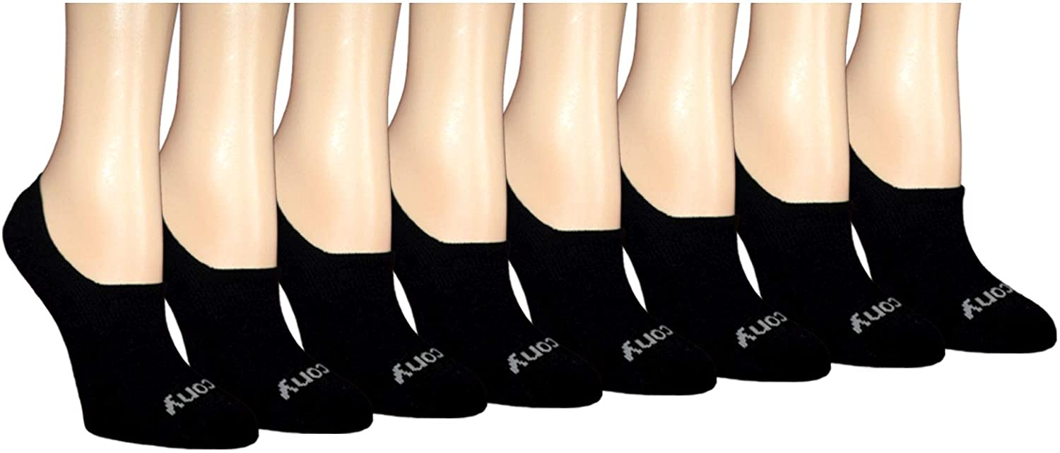 Saucony Women's 8-Pair No Show Invisible Liner Socks