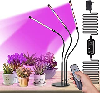 High Brightness 36w Grow Light,Auto ON & Off Every Day with Cycle Timer Desktop Plant Light,8 Dimmable Levels,4/8/12H Cycl...