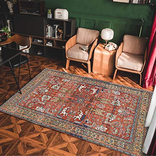 Einfache rutschfeste Dicke Couchtisch Sofa Teppich Im Europäischen Stil Retro Fußmatten Im Ethnischen Stil Wohnzimmer Schlafzimmer Hotel Bed & Breakfast Party Teppich