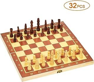 Lixada チェスセット 国際チェス 木製 エンターテイメントゲーム 折りたたみボード