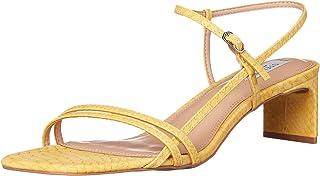 STEVEN by Steve Madden Women's Oceana Heeled Sandal, Yellow Multi, 7.5 M US