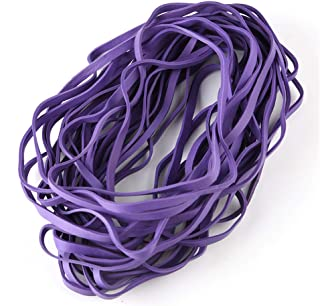Coopay 60 Pieces Large Rubber Bands Trash Can Band Set Elastic Bands for Office Supply, Trash Can, File Folders, Cat Litter Box, Size 8 inches (Purple)