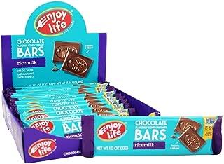 Enjoy Life, Bar Rice Milk Chocolate Dairy Free Gluten Free 12 Count, 1.12 Ounce