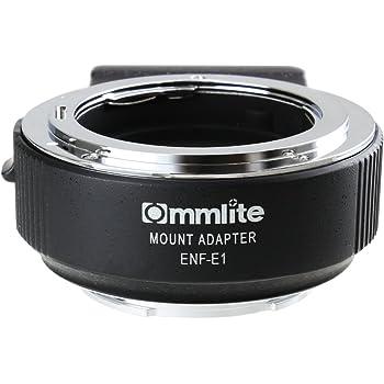 Commlite レンズマウントアダプター CM-ENF-E1 PRO  (ニコンFマウントレンズ → ソニーEマウント変換) 電子接点付き