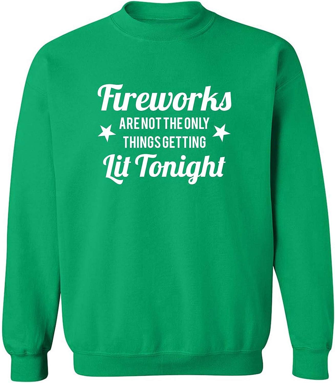 Fireworks. . .Getting Lit Tonight Crewneck Sweatshirt