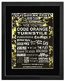 Stick It On Your Wall Mini-Poster, Motiv Code, Orange