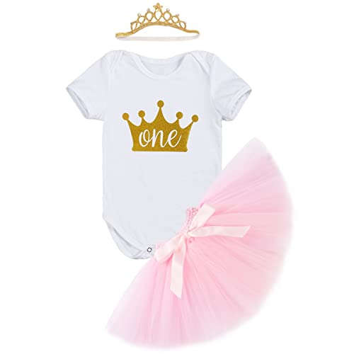 cafb354ad9f Newborn Baby Infant Toddler Girls It s My 1st Birthday Cake Smash Shiny  Printed Sequin Dress Princess