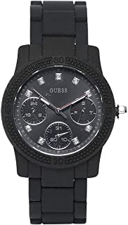 Guess Women's Black Dial Silicone Band Watch - W0944L4