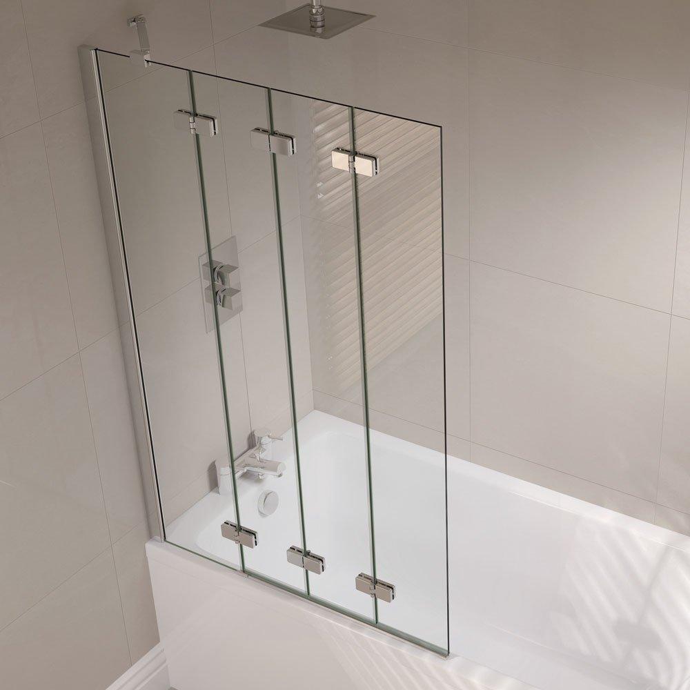 De abril de sin marco mampara de baño plegable de 4 mano derecha ap9501rs: Amazon.es: Hogar