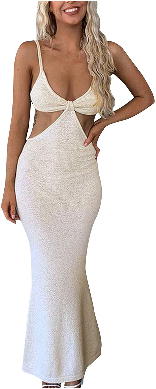 Women Summer Easter Club Night Party Sexy Ruffle Backless Elegant Temperament Slim Evening Sling Sleeveless Long Dress