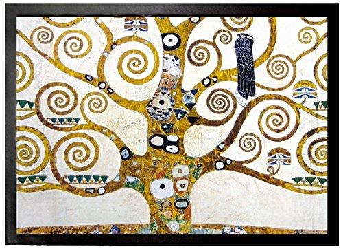 1art1 Gustav Klimt - Der Lebensbaum (Detail) Fußmatte Innenbereich und Außenbereich | Design Türmatte 70 x 50 cm