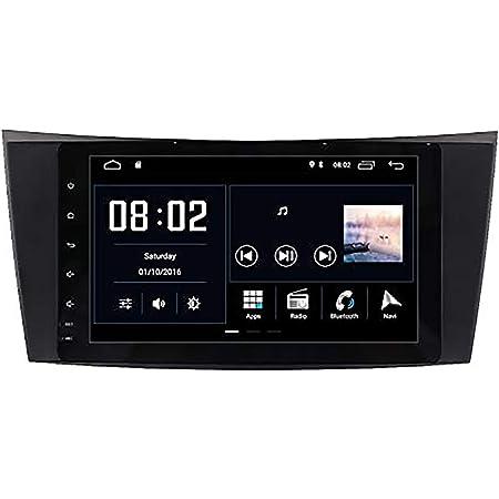 Android 10 Autoradio Radio Dab Für Mercedes Benz E W211 E200 E220 E280 Gps Navigation Navi Canbus Ips Panel Multitouch Bildschirm Bluetooth Wifi 4g Lenkradsteuerung Navigation