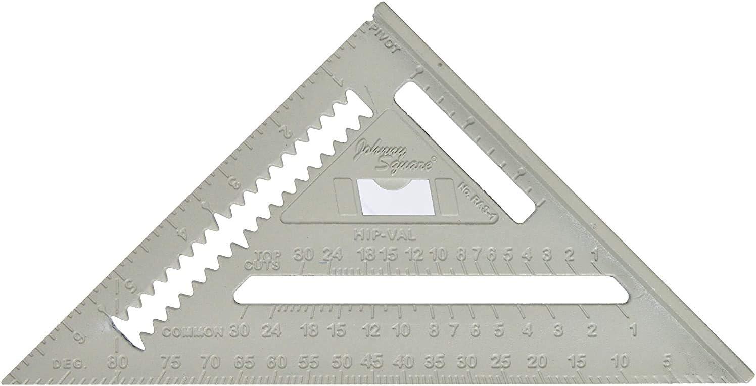 Model:RAS-1B 3 Pack Johnson Level /& Tool RAS-1 7-Inch Aluminum Rafter Angle Square w//Manual