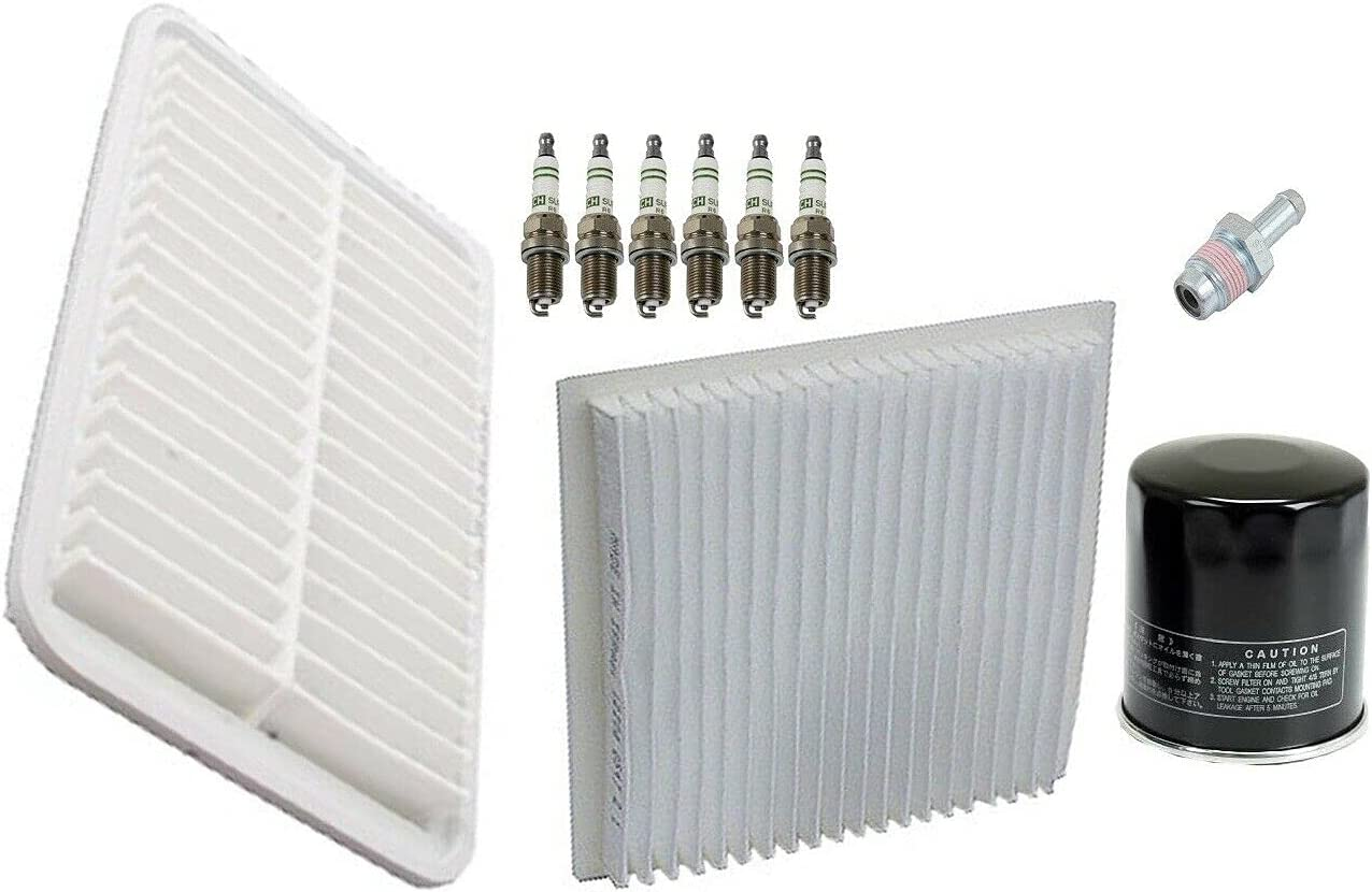 Tune Up kit Spark Plugs Filters kit Compatible with Toyota Sienn