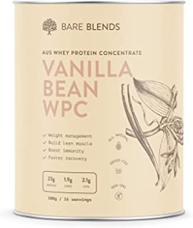 Bare Blends - Natural Whey Protein Concentrate with Vanilla Bean | WPC | Vanilla Whey Protein Powder | Gluten Free | non-G...