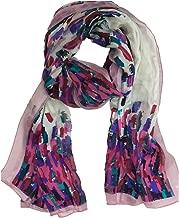 EcoWonder 100% Silk Scarf for Women Fashion Shawls Lightweight Long Silk Scarf Silk Head Scarf Ladies Wonderful Gift
