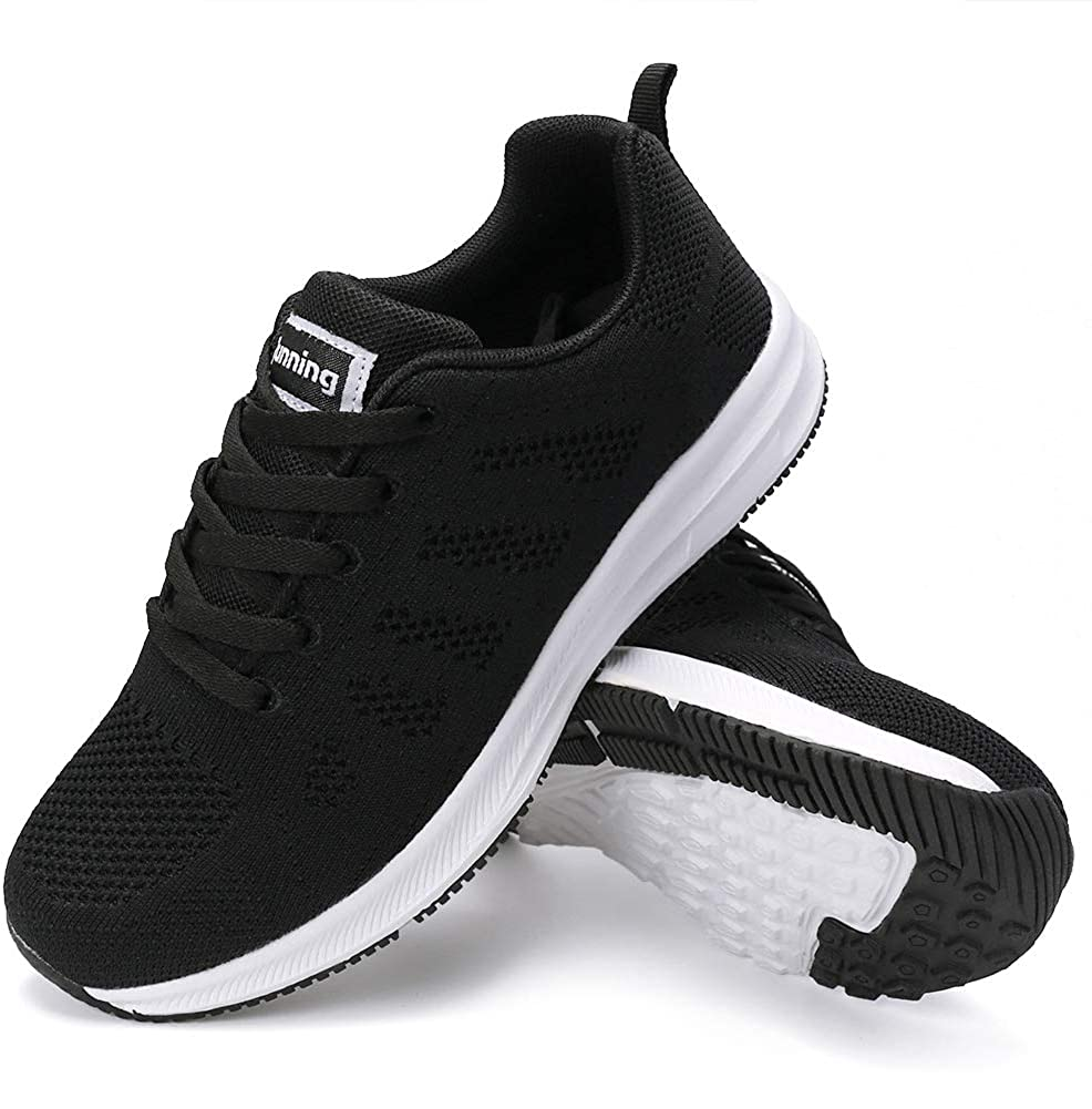FUDYNMALC Walking Shoes for Weekly update Women Lace Up Sli Non Casual Comfort Cash special price