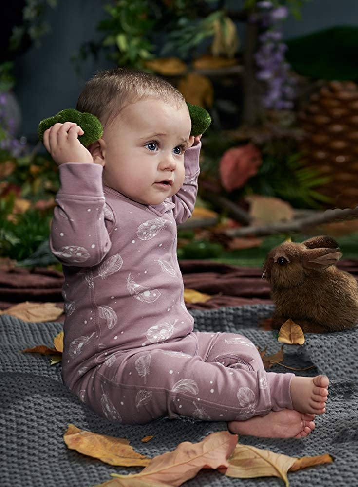 Footless Baby Romper Owlivia Organic Cotton Baby Boy Girl Zip Up Sleep N Play Size newborn-24 Months Long Sleeve Baby Pyjama