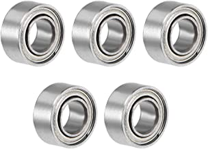 uxcell R144ZZ Deep Groove Ball Bearing 1/8 inches x 1/4 inches x 7/64 inches Double Shielded ABEC-3 Bearings 5-Pack