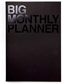 JSTORY Big Monthly Planner Stitch Bound Lays Flat Huge Undated Year Round Flexible Cover Goal/Time Organizer Thick Paper E... photo