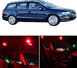 SCITOO Package Kit Interior Lights Professional Replacement Parts 16pcs Red for VW VOLKSWAGEN PASSAT 2013-2017