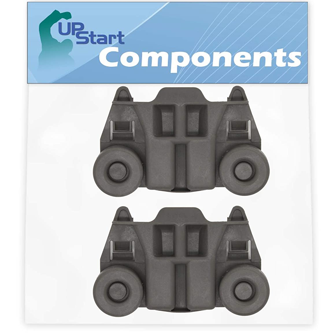 2-Pack W10195417 Dishwasher Wheel Replacement for Kenmore/Sears 66513973K013 Dishwasher - Compatible with WPW10195417 Dishwasher Rack Roller - UpStart Components Brand