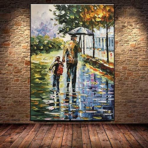 mmzki Paare gestalten schönes Ölgemälde Moderne abstrakte Wandkunstanstrichwohnzimmerausgangsdekoration auf Segeltuch O landschaftlich